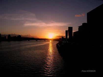 橘公園の夕日02