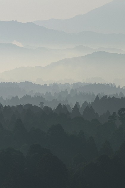 野尻町 大塚原公園から見た山の風景