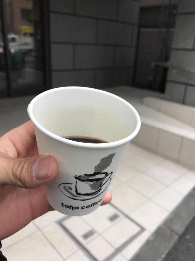 食後のコーヒーサービス