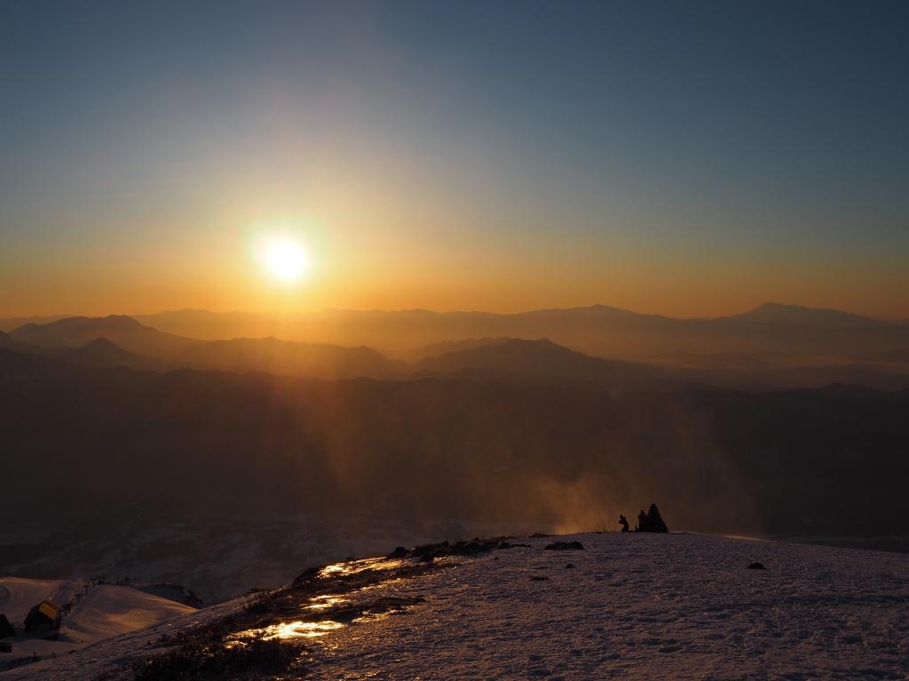 2019年3月24日 唐松岳からの朝日