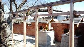 ホームにあった神社。