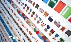 mt博会場の壁のマステたち。