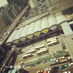 ヒカリエから見た旧東横渋谷駅。