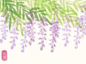 藤の花はんこ。