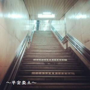 使われなくなったホームへの階段