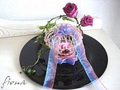 花のセッティングプレート