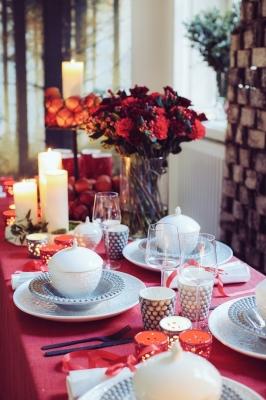 クリスマスの食器