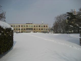 小公園積雪