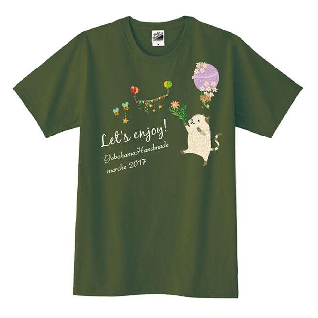 ヨコハマハンドメイドマルシェ2017Tシャツ