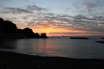 南伊豆堂ヶ島の日の出