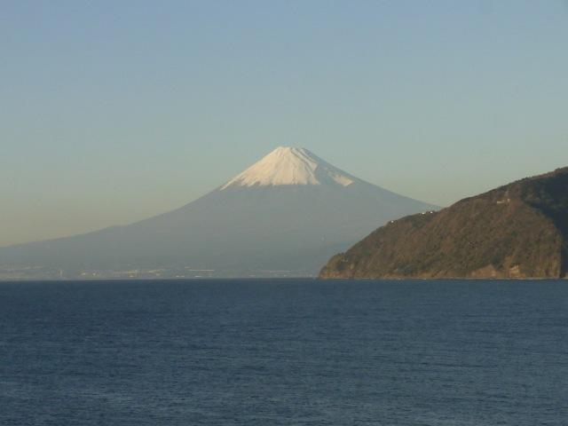 帰宅途中の富士山