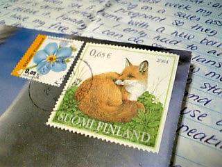 キツネは2004年の切手!