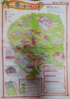 モクモク手作りファームの園内マップ