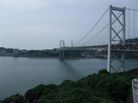 めかりPAより関門橋を望む