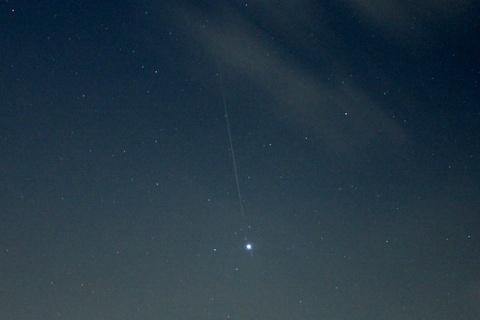 ペルセウス座流星群の流星