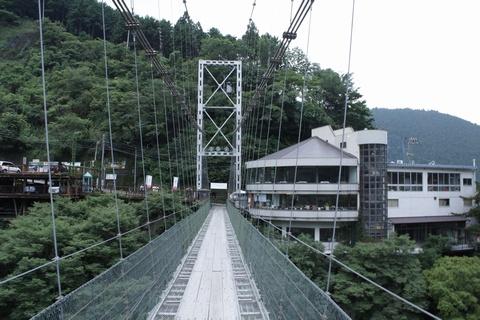 谷瀬のつり橋から撮影
