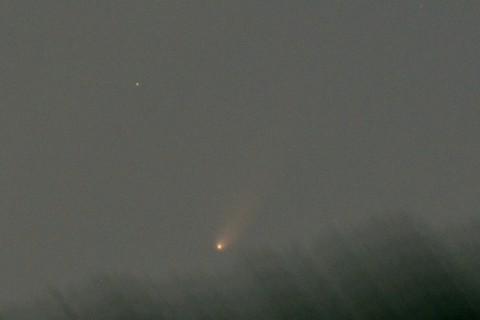 沈むパンスターズ彗星