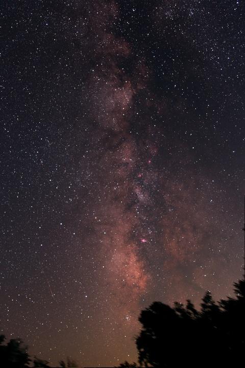 流星と天の川