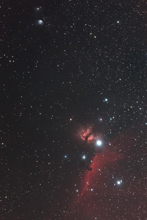 M78から馬頭星雲にかけて