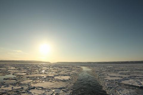 太陽と流氷