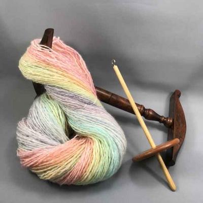 双糸にした手紡ぎの杢糸