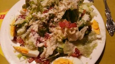 アンチョビパン粉のシーザーサラダ