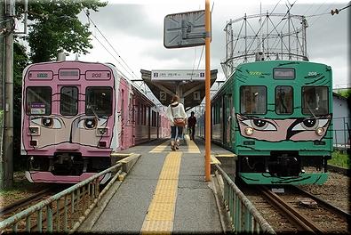 伊賀鉄道 交換風景