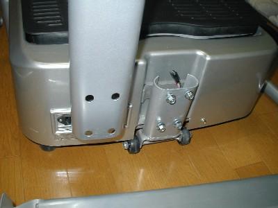 支持柱と踏み台を組み合わせる部分です