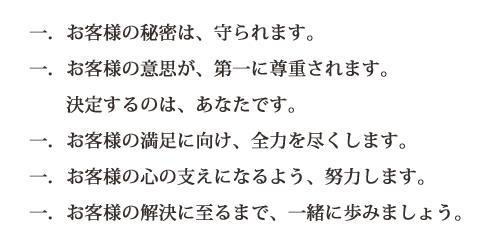 菊地司法書士事務所 相談者の保護について