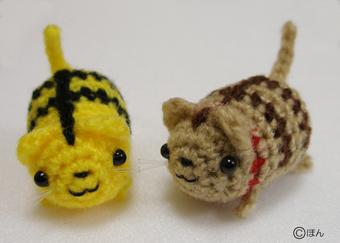 トラと茶トラねこ