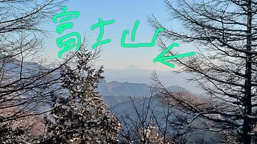 写真では分りにくいですが富士山もキレイに見えました。
