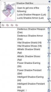 Shadow Stat Box