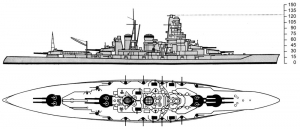 Kongo_class_battleship_drawing