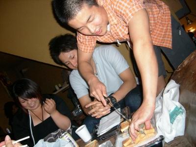 Vol.5 2008年9月20日 アートデイ 夕食中
