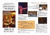 Vol.6 2008年12月13日 AKIRA「PUZZLE」 フライヤー