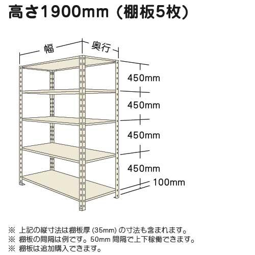 高さ1900mmのオープン棚スチール棚開放棚