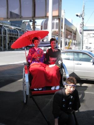 人力車(舞妓さんと花柳様)