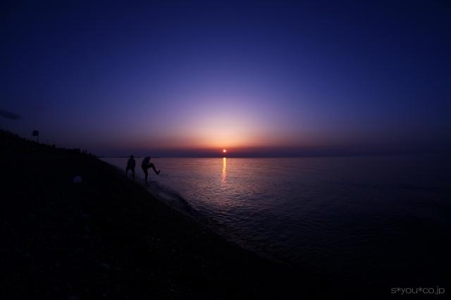 とある日の夕景
