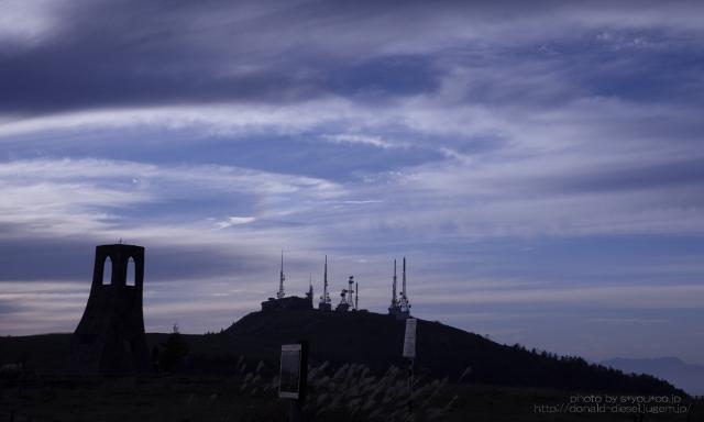夕方の彩雲