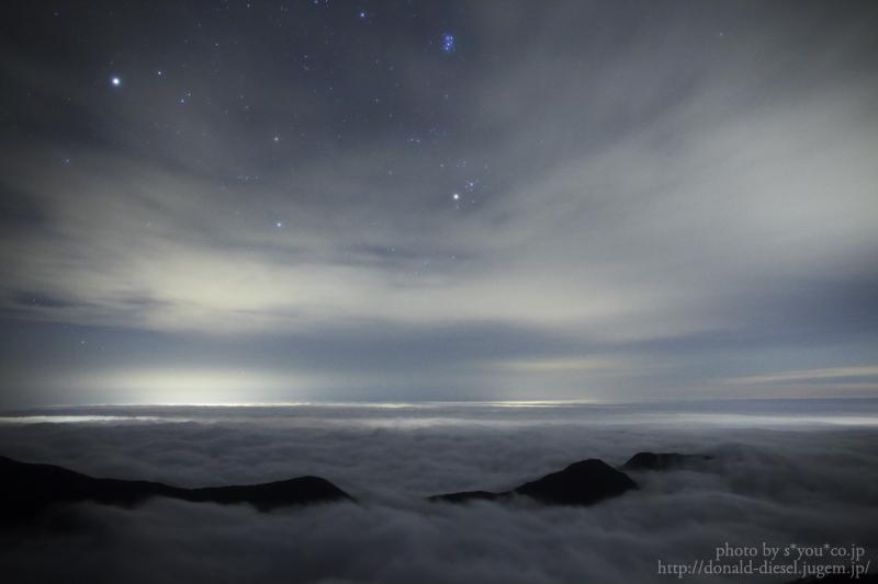 山荘からの星景