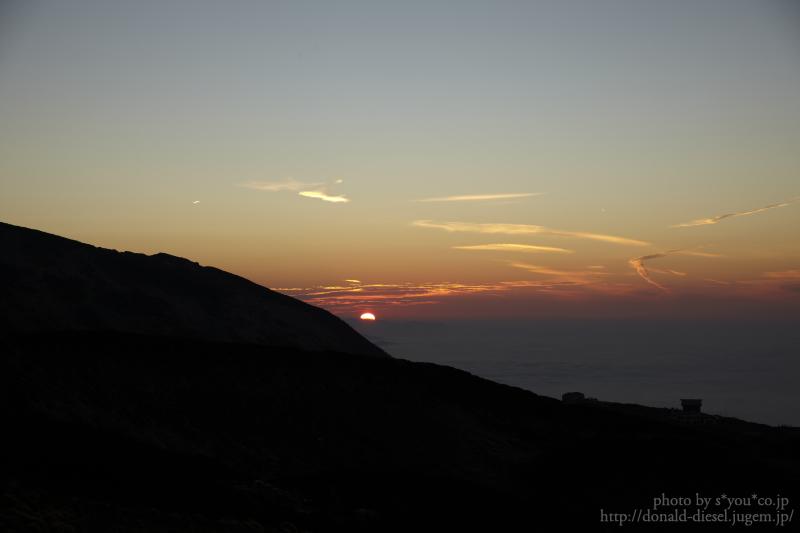 閻魔台からの夕日