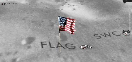 google moon 星条旗