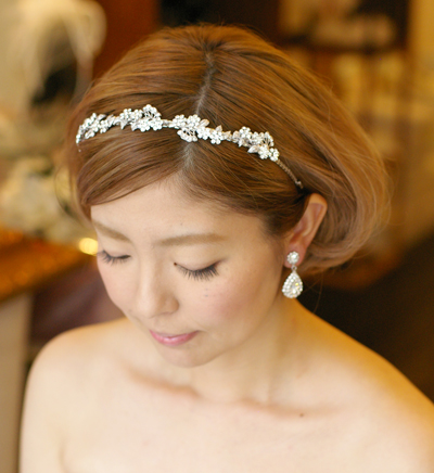 結婚式 髪型 ボブ ダウンスタイル