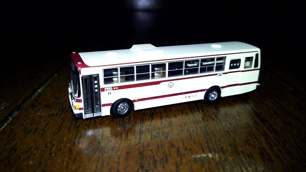 交換後のバス