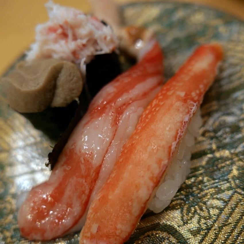 蟹,握り,寿司,gvbdo