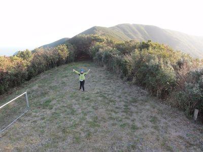 内山峠アカハラダカ観察所にて