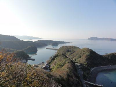 大平(高)砲台から浅茅湾眺望