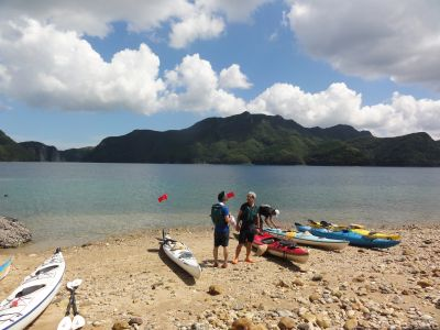 明礬島と城山