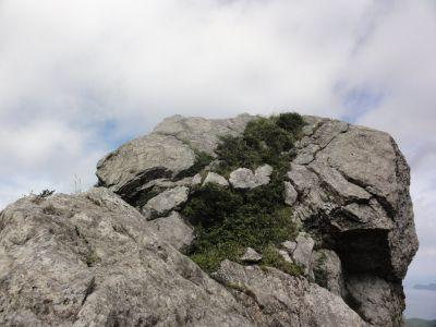 山頂(男岳)を望む