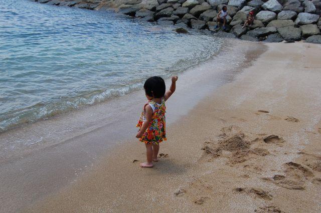 泳げんけん砂投げる